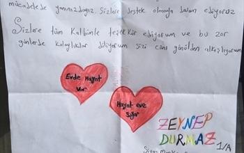 Sivas Beypınarı Köyü İlk ve Orta Okulu Öğrencilerinden Sağlık Çalışanlarına Mektup