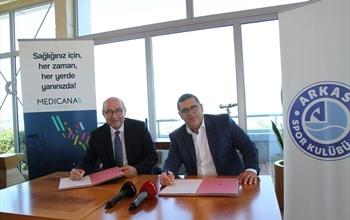 Arkas Spor'un sağlık sponsoru Medicana