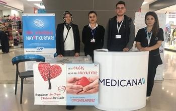 Medicana Sivas Hastanesi 3-9 Kasım Organ Bağışı Haftası kapsamında bir takım etkinler gerçekleştirdi.