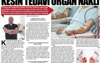 """""""Böbrek Yetmezliğinin Kesin Tedavisi: Organ Nakli"""""""