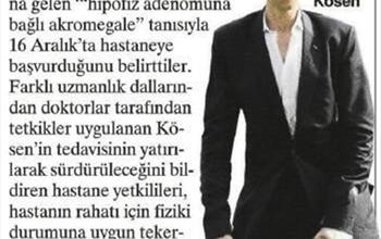 Uzun Adam Sultan Köse, Medicana Ankara'da Tedavide